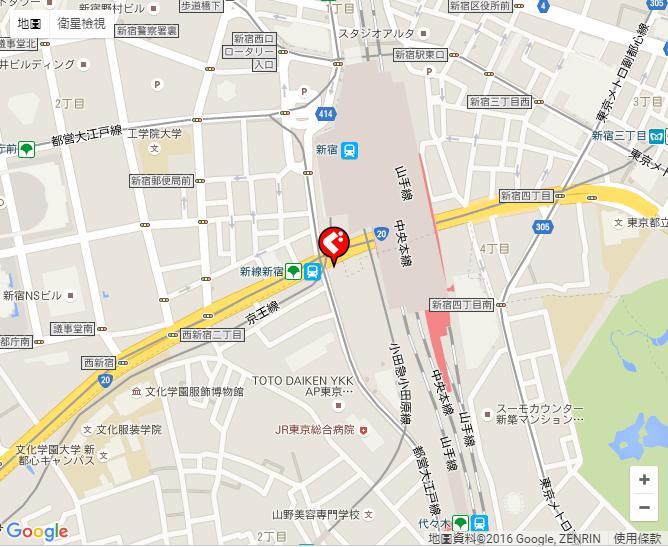 ぐるなび   磯丸水産新宿南口店 地図・アクセス