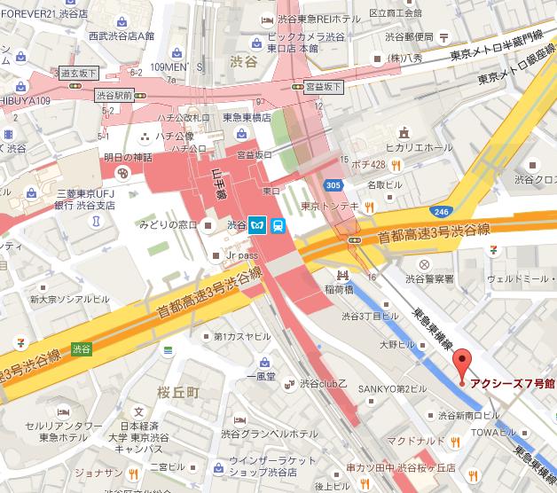 アクシーズ7号館   Google 地圖